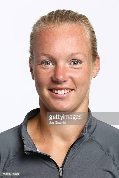 Kiki Bertens of Netherlands poses for a WTA Portrait at Arthur Ashe Stadium on August 26 2016 in New York City