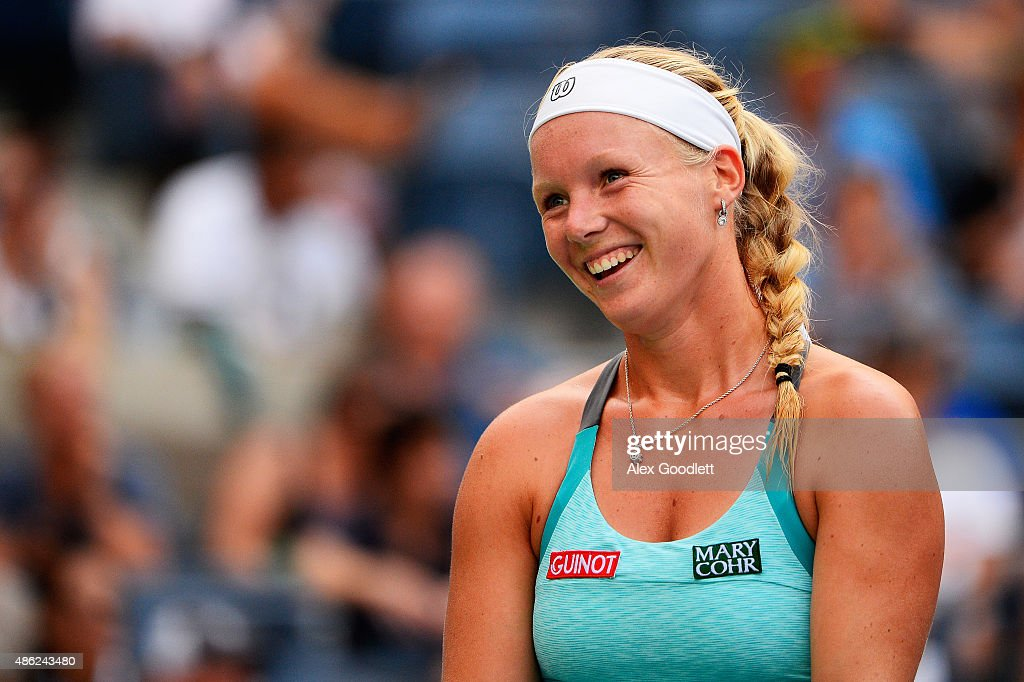 <a gi-track='captionPersonalityLinkClicked' href=/galleries/search?phrase=Kiki+Bertens&family=editorial&specificpeople=7945371 ng-click='$event.stopPropagation()'>Kiki Bertens</a> of the Netherlands reacts against Serena Williams of the United States during their Women's Singles Second Round match on Day Three of the 2015 US Open at the USTA Billie Jean King National Tennis Center on September 2, 2015 in the Flushing neighborhood of the Queens borough of New York City.