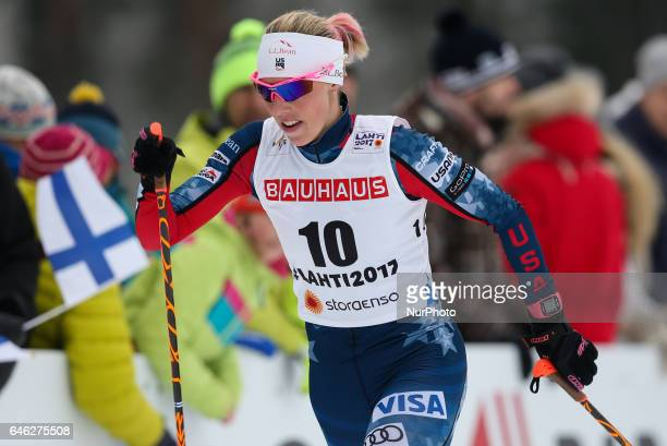 Kikkan Randall competes during the women cross country 10 km individual classic competition of the 2017 FIS Nordic World Ski Championships in Lahti...