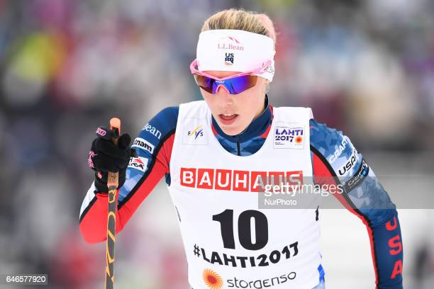 Kikkan Randall from USA during Ladies crosscountry 100km Individual Classic final at FIS Nordic World Ski Championship 2017 in Lahti On Tuesday...