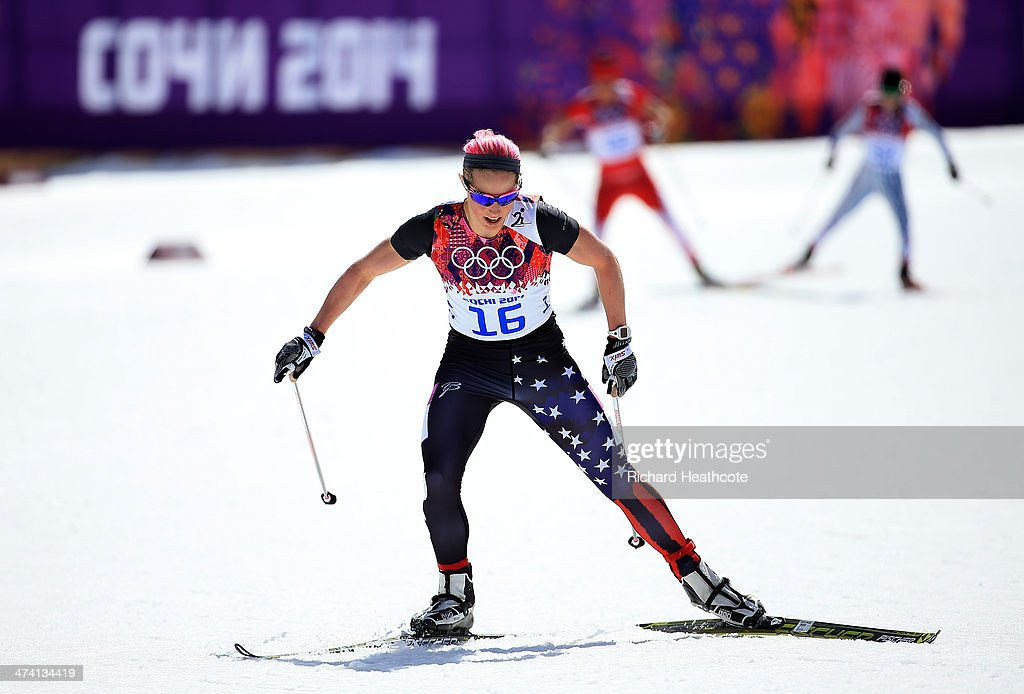 <a gi-track='captionPersonalityLinkClicked' href=/galleries/search?phrase=Kikkan+Randall&family=editorial&specificpeople=813699 ng-click='$event.stopPropagation()'>Kikkan Randall</a> of the United States competes during the Women's 30 km Mass Start Free during day 15 of the Sochi 2014 Winter Olympics at Laura Cross-country Ski & Biathlon Center on February 22, 2014 in Sochi, Russia.