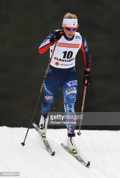 Kikkan Randall of the United States competes in the Women's 10km Cross Country during the FIS Nordic World Ski Championships on February 28 2017 in...