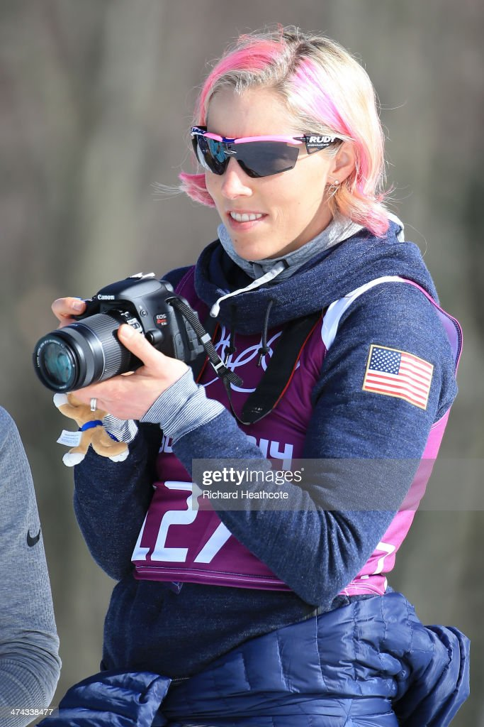 <a gi-track='captionPersonalityLinkClicked' href=/galleries/search?phrase=Kikkan+Randall&family=editorial&specificpeople=813699 ng-click='$event.stopPropagation()'>Kikkan Randall</a> of the United States looks on during the Men's 50 km Mass Start Free during day 16 of the Sochi 2014 Winter Olympics at Laura Cross-country Ski & Biathlon Center on February 23, 2014 in Sochi, Russia.