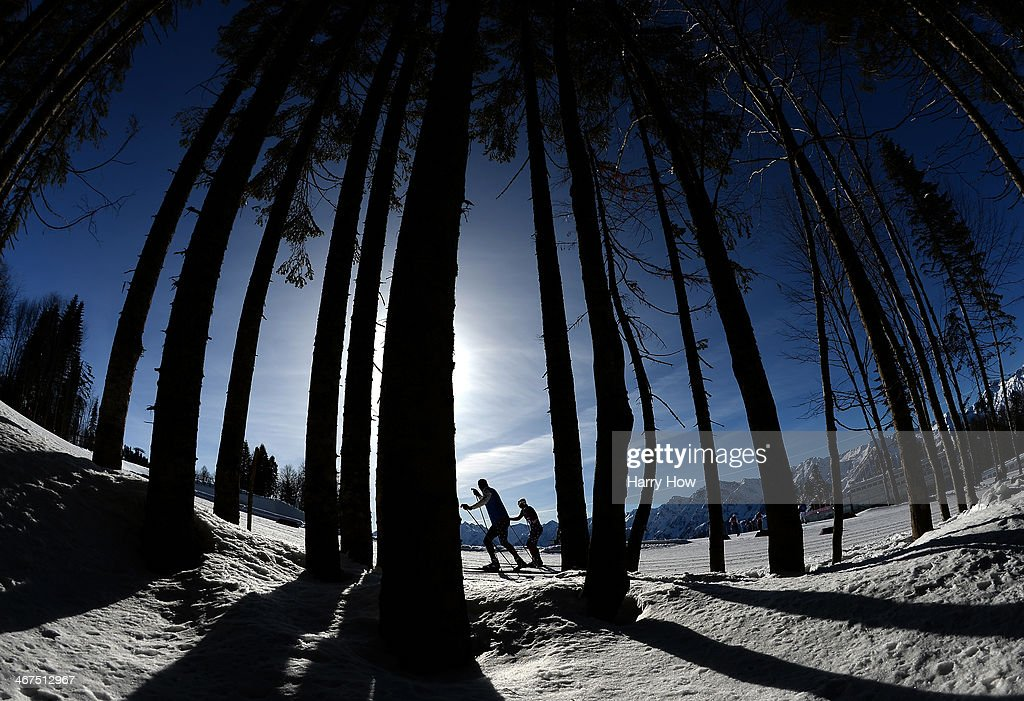 Kikkan Randall of the United States trains ahead of the Sochi 2014 Winter Olympics at the Laura Cross-Country Ski and Biathlon Center on February 7, 2014 in Sochi, Russia.