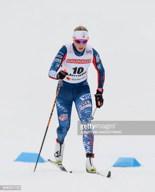 Kikkan Randall of USA competes during the women cross country 10 km individual classic competition of the 2017 FIS Nordic World Ski Championships in...