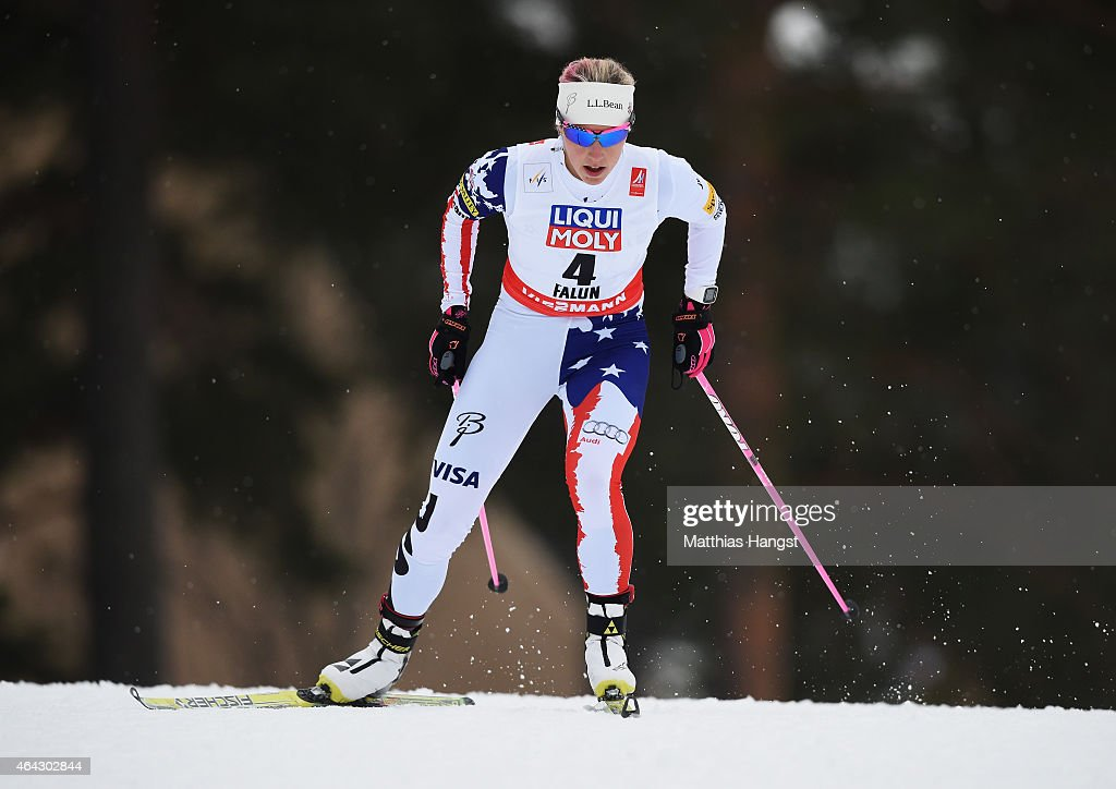 <a gi-track='captionPersonalityLinkClicked' href=/galleries/search?phrase=Kikkan+Randall&family=editorial&specificpeople=813699 ng-click='$event.stopPropagation()'>Kikkan Randall</a> of USA competes during the Women's 10km Cross-Country during the FIS Nordic World Ski Championships at the Lugnet venue on February 24, 2015 in Falun, Sweden.