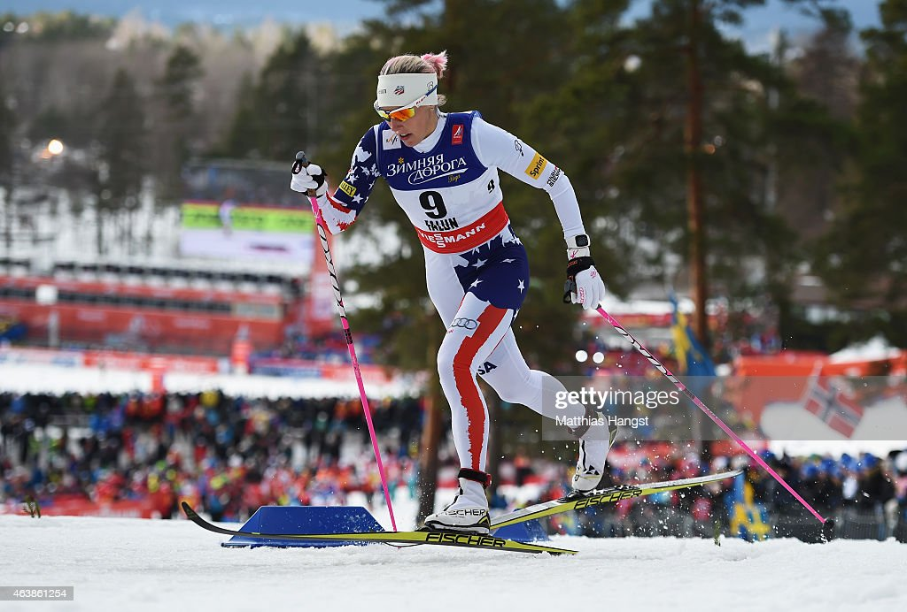 <a gi-track='captionPersonalityLinkClicked' href=/galleries/search?phrase=Kikkan+Randall&family=editorial&specificpeople=813699 ng-click='$event.stopPropagation()'>Kikkan Randall</a> of USA competes during the Women's Cross-Country Sprint Qualification during the FIS Nordic World Ski Championships at the Lugnet venue on February 19, 2015 in Falun, Sweden.