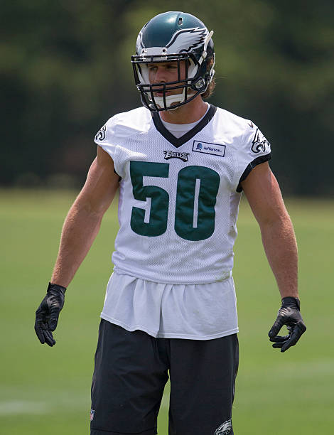 ca2b6f0b8 Nike Philadelphia Eagles 50 Kiko Alonso Dark Green Elite Jersey  Philadelphia Eagles OTAs ...