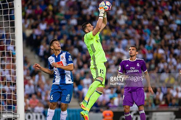 Kiko Casilla during the match between RCD Espanyol vs Real Madrid for the round 4 of the Liga Santander played at RCD Espanyol Stadium on 18th Sep...