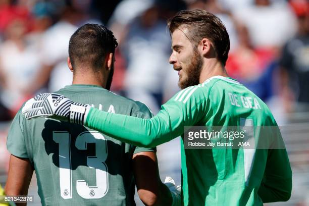 Kiko Casilla of Real Madrid and David de Gea of Manchester United during the International Champions Cup 2017 match between Real Madrid v Manchester...