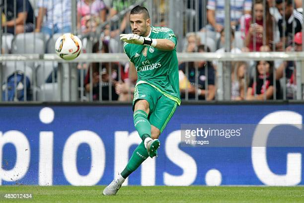 Kiko Casilla of Real Madrid during the AUDI Cup match between Real Madrid and Tottenham Hotspur on August 4 2015 at the Allianz Arena in Munich...