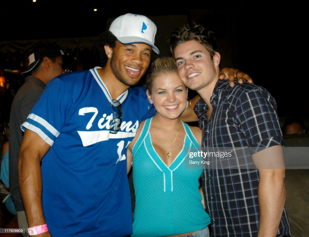 Kiko Ellsworth, Kirsten Storms and Josh Henderson during Hollywood Knights Basketball Team Wrap Party - Inside at The Highlands in Hollywood, California, United States.