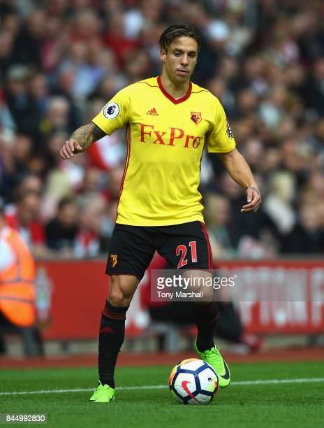 Kiko Femenia of Watford during the Premier League match between Southampton and Watford at St Mary's Stadium on September 9 2017 in Southampton...