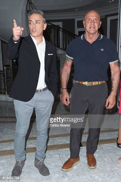 Kiko Hernandez and Kiko Matamoros attend the presentation of the new book 'Frente Al Espejo' at Hotel Villamagna on July 12 2017 in Madrid Spain