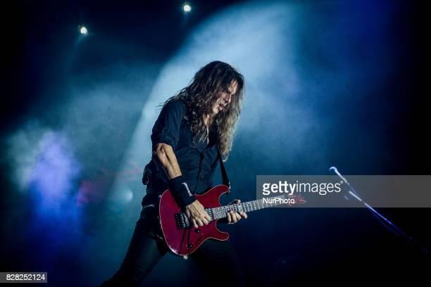 Kiko Loureiro of the american heavy metal band Megadeth performing live at Carroponte Sesto San Giovanni Italy on 8 August 2017