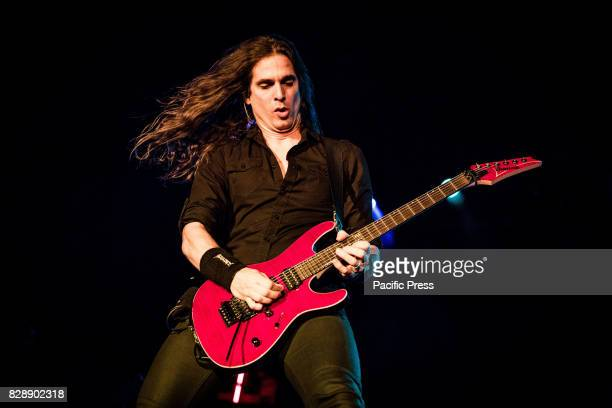 Kiko Loureiro of the american heavy metal band Megadeth pictured on stage as the perform live at Carroponte Milan Italy