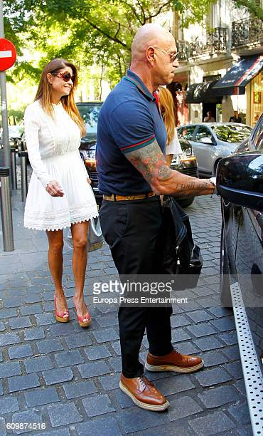 Kiko Matamoros and Makoke are seen on September 22 2016 in Madrid Spain