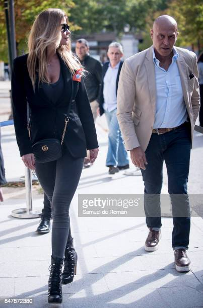 Kiko Matamoros and Makoke arrives to the Funeral Tribute For Angel Nieto in Madrid on September 16 2017 in Madrid Spain