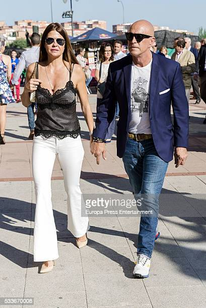 Kiko Matamoros and Makoke attend bullfighting during San Isidro Fair at Las Ventas Bullring on May 20 2016 in Madrid Spain