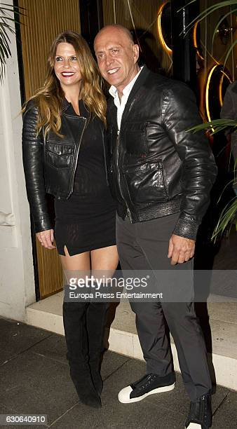 Kiko Matamoros celebrates his 60th birthday with his wife Makoke at Amazonico restaurant on December 28 2016 in Madrid Spain