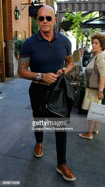Kiko Matamoros is seen on September 22 2016 in Madrid Spain