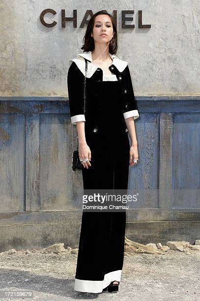 Kiko Mizuhara attends the Chanel show as part of Paris Fashion Week Haute Couture Fall/Winter 20132014 at Grand Palais on July 2 2013 in Paris France