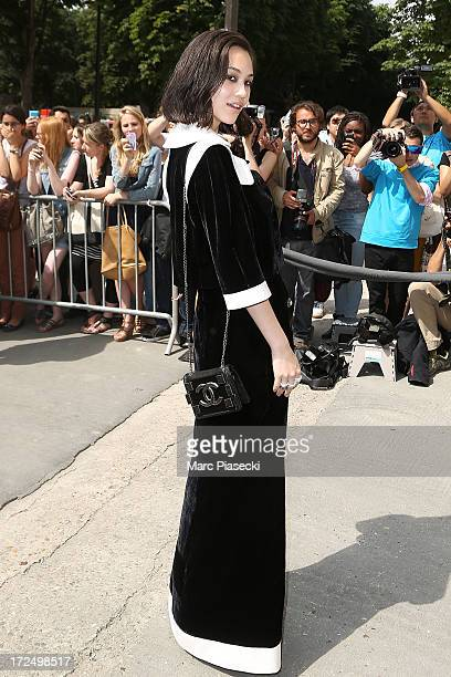 Kiko Mizuhara attends the Chanel show as part of Paris Fashion Week HauteCouture Fall/Winter 20132014 at Grand Palais on July 2 2013 in Paris France