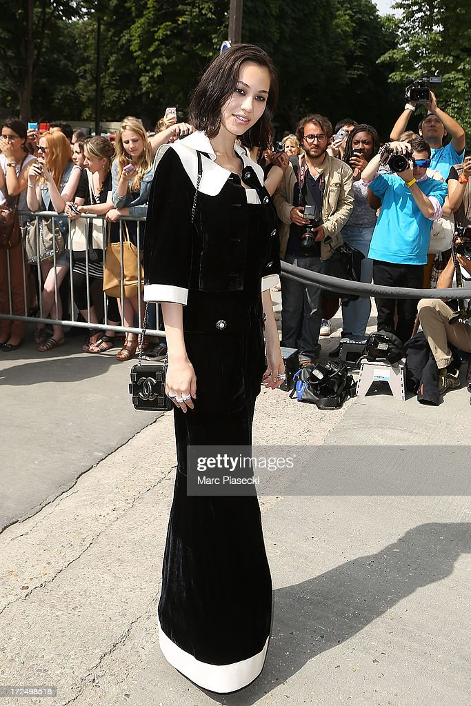 Kiko Mizuhara attends the Chanel show as part of Paris Fashion Week Haute-Couture Fall/Winter 2013-2014 at Grand Palais on July 2, 2013 in Paris, France.