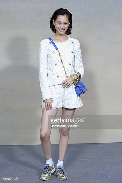 Kiko Mizuhara attends the Chanel show as part of the Paris Fashion Week Womenswear Spring/Summer 2015 on September 30 2014 in Paris France