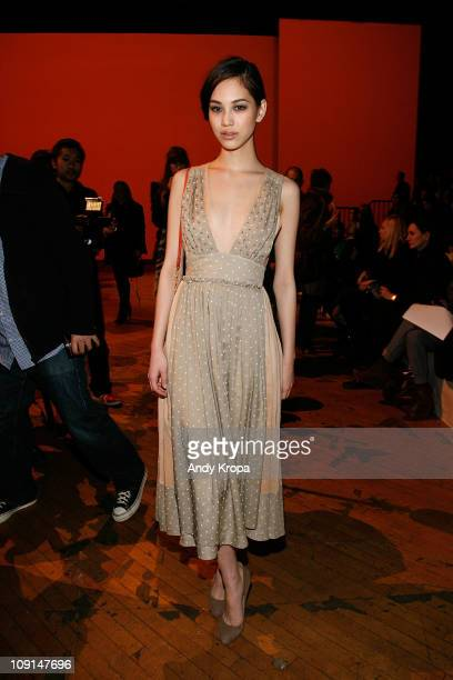 Kiko Mizuhara attends the Marc by Marc Jacobs Fall 2011 fashion show during MercedesBenz Fashion Week at NY State Armory on February 15 2011 in New...
