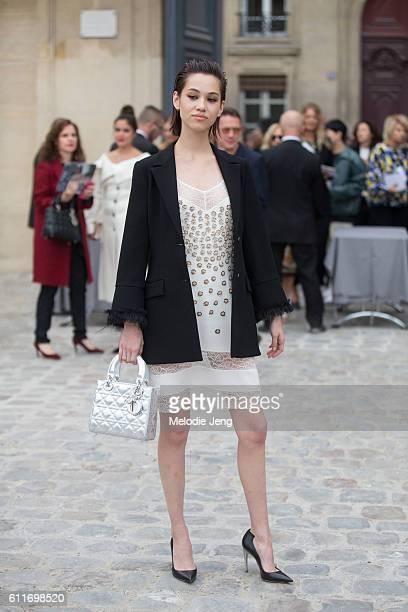 Kiko Mizuhara outside the Dior show at Musee Rodin on September 30 2016 in Paris France