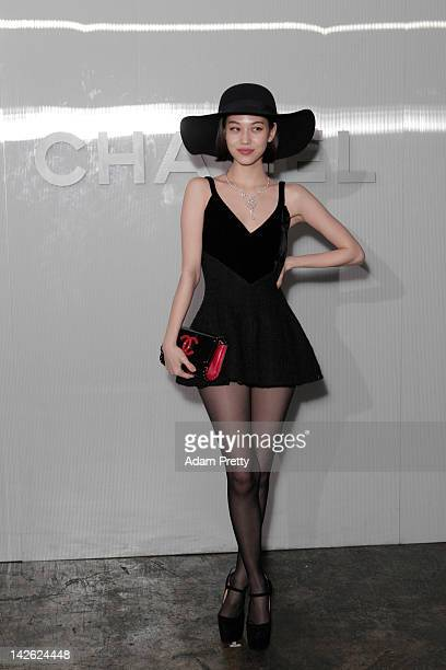Kiko Mizuhara poses for photographs during the Chanel Party on March 23 2012 in Tokyo Japan