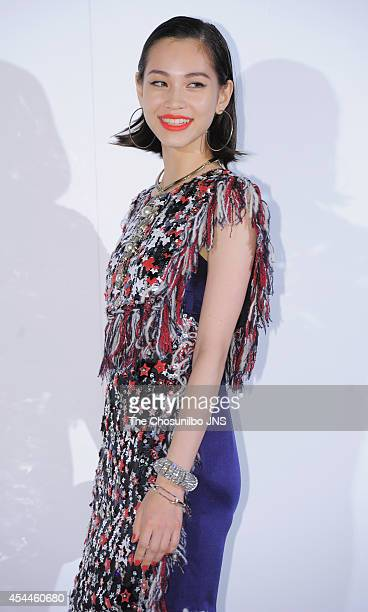 Kiko Mizuhara poses for photographs during the Culture Chanel 'The Sense of Places' opening event at DDP on August 29 2014 in Seoul South Korea