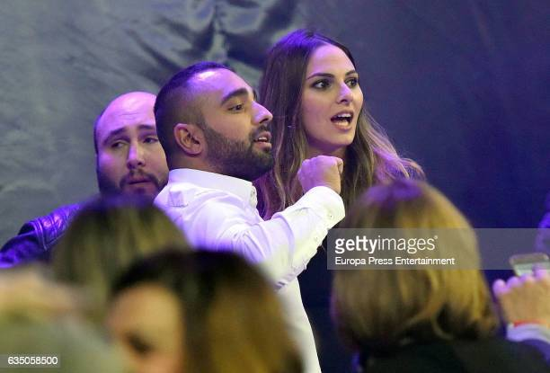 Kiko Rivera and Irene Rosales attend the Isabel Pantoja concert during the 'Hasta que se apague el sol' tour at WiZink Center on February 11 2017 in...