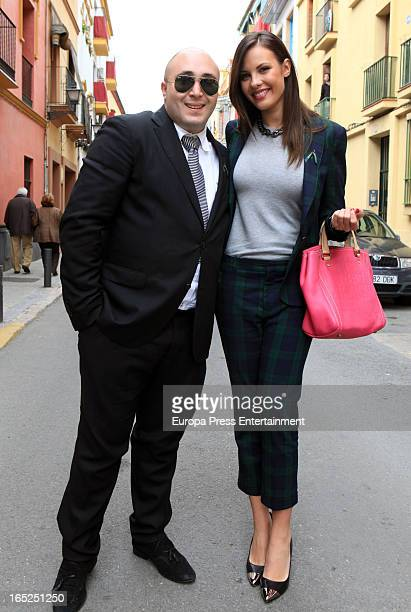 Kiko Rivera and Jessica Bueno attend Holy Week Procession on March 28 2013 in Seville Spain