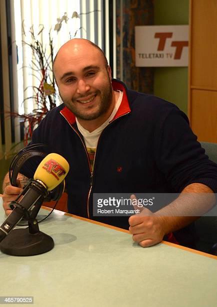 Kiko Rivera visits the Radio Tele Taxi station on January 29 2014 in Barcelona Spain