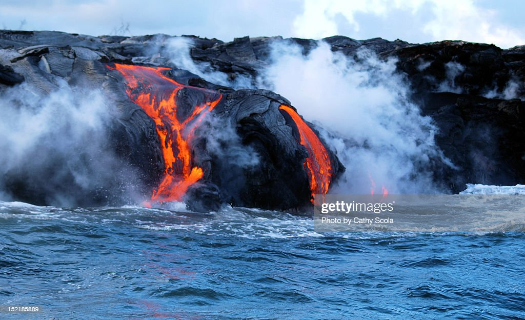 Kilauea Volcano lava flow : Stock Photo