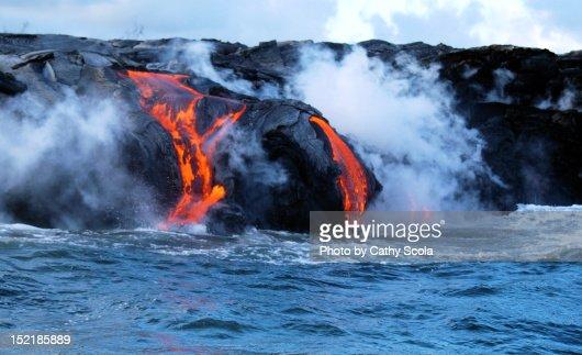 Kilauea Volcano lava flow : Stock Photo