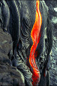 Kilauea Volcano Lava Flow on the Big Island, HI