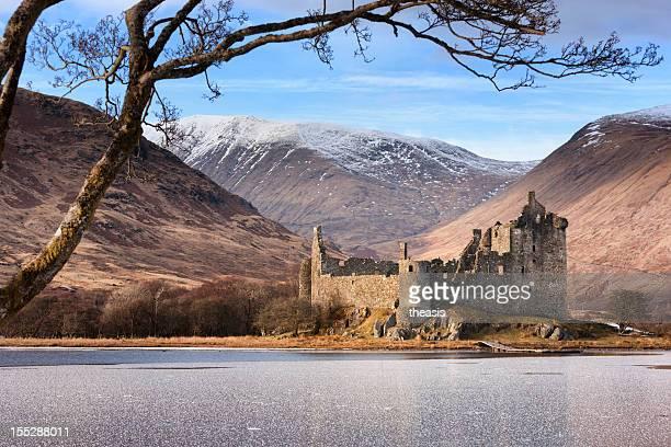 Regarder en face du Château de Kilchurn à Loch Awe