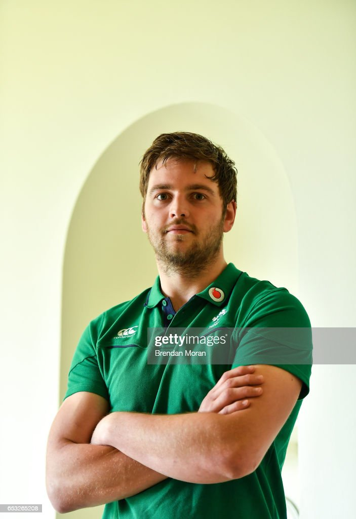 Kildare , Ireland - 14 March 2017; Iain Henderson of Ireland poses for a portrait after a press conference at Carton House in Maynooth, Co Kildare.