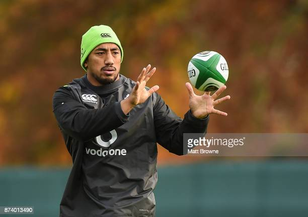 Kildare Ireland 14 November 2017 Bundee Aki during Ireland rugby squad training at Carton House in Maynooth Kildare