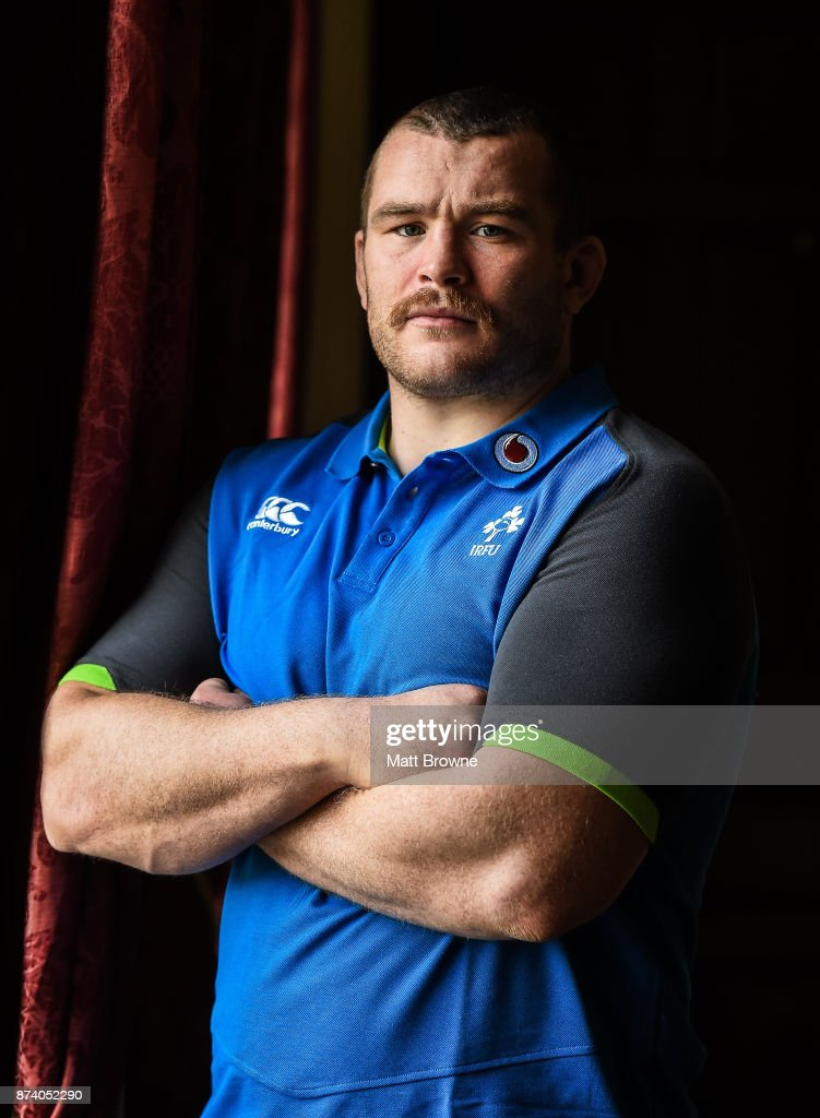 Kildare , Ireland - 14 November 2017; Jack McGrath after an Ireland rugby squad press Conference at Carton House, in Maynooth, Kildare.