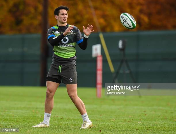 Kildare Ireland 14 November 2017 Joey Carbery during Ireland rugby squad training at Carton House in Maynooth Kildare