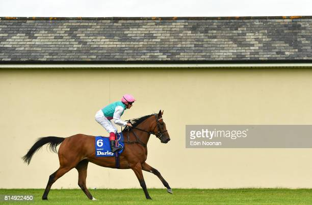 Kildare Ireland 15 July 2017 Enable with Frankie Dettori up after winning the Darley Irish Oaks during Day 1 of the Darley Irish Oaks Weekend at the...