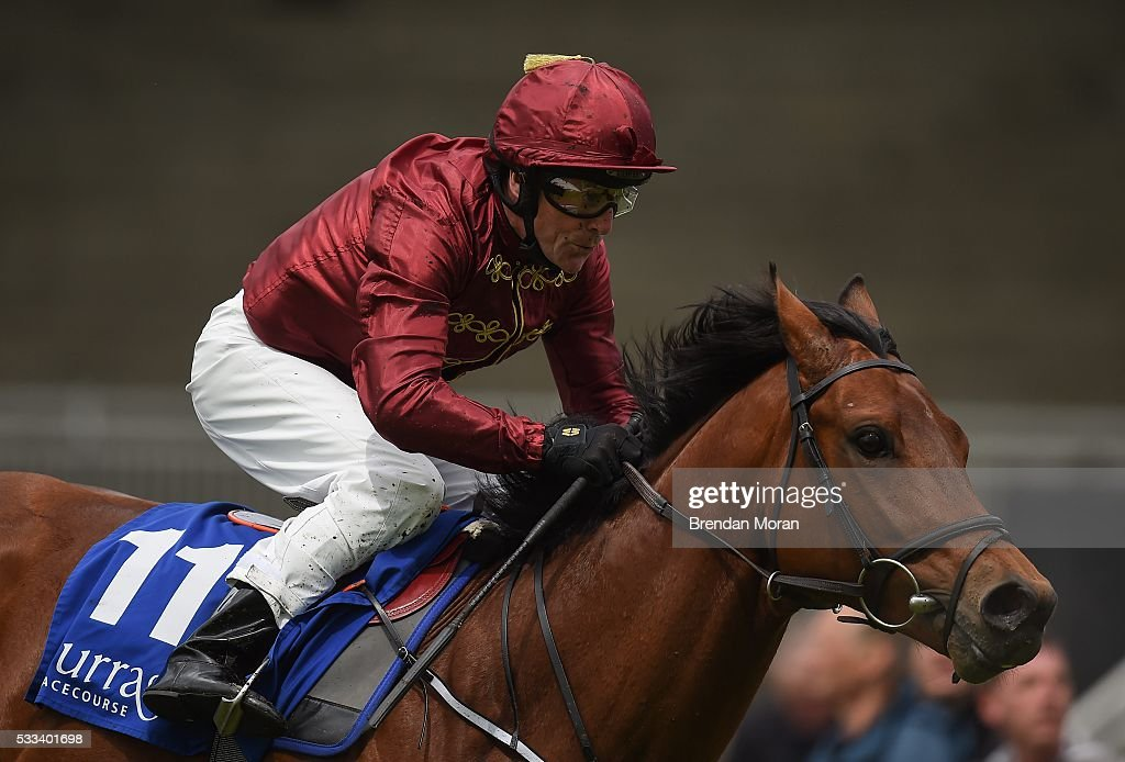 Kildare Ireland 22 May 2016 Survivor with Kieren Fallon up in action during the Elusive Pimpernel EBF Maiden at the Curragh Racecourse Curragh Co...
