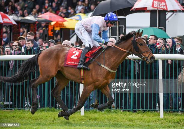 Kildare Ireland 25 April 2017 Enniskillen with Jamie Codd up on their way to wining the Kildare Hunt Club Fr Sean Breen Memorial Steeplechase for the...