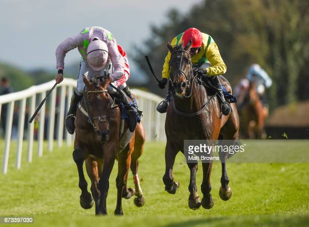 Kildare Ireland 26 April 2017 Sizing John right with Robbie Power up on their way to winning the Coral Punchestown Gold Cup from Djakadam with Ruby...