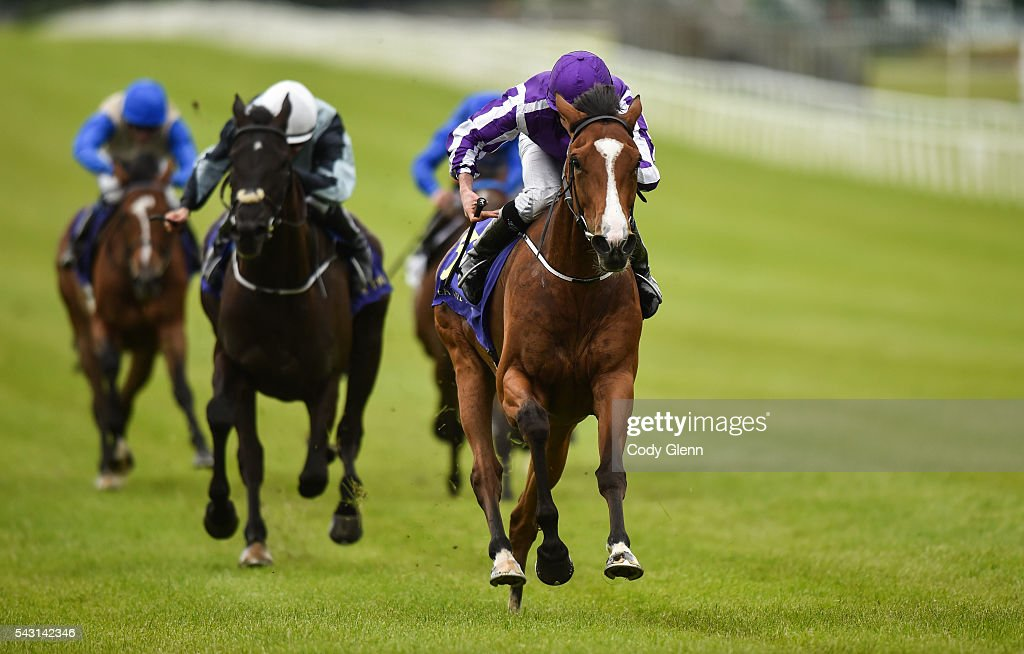 Kildare , Ireland - 26 June 2016; Minding, with Ryan Moore up, on their way to winning the Sea The Stars Pretty Polly Stakes at the Curragh Racecourse in the Curragh, Co. Kildare.