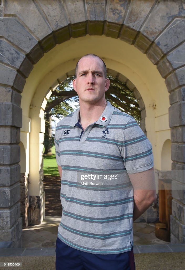 Kildare , Ireland - 8 March 2017; Devin Toner of Ireland poses for a portrait after a press conference at Carton House in Maynooth, Co Kildare.